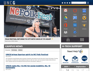 ispartan.uncg.edu screenshot