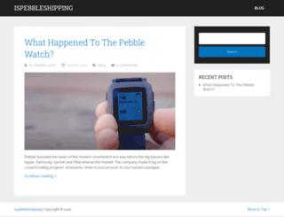 ispebbleshipping.com screenshot