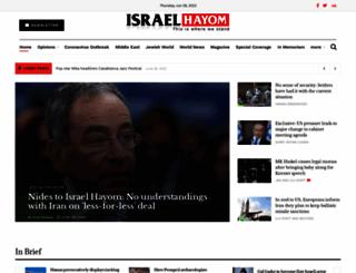 israelhayom.com screenshot