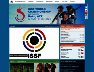 issf-sports.org screenshot