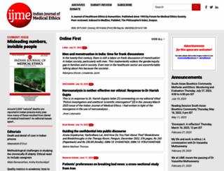 issuesinmedicalethics.org screenshot