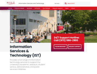 ist.njit.edu screenshot
