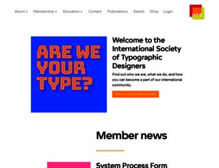 istd.org.uk screenshot