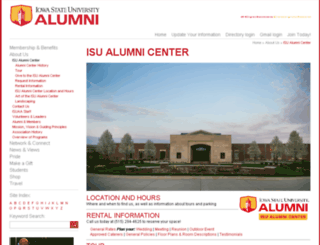 isualumnicenter.org screenshot