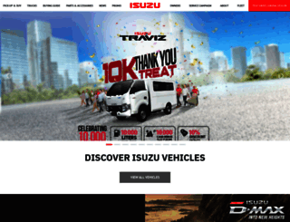 isuzuphil.com screenshot