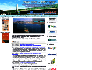 iswc2007.semanticweb.org screenshot