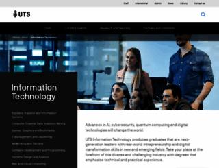 it.uts.edu.au screenshot