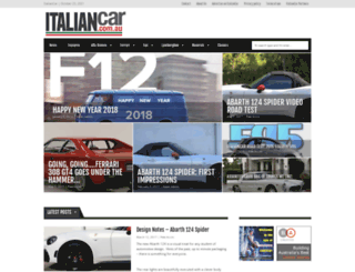 italiancar.com.au screenshot