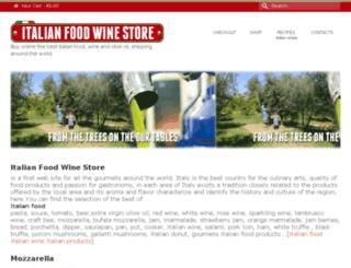 italianfoodwinestore.com screenshot