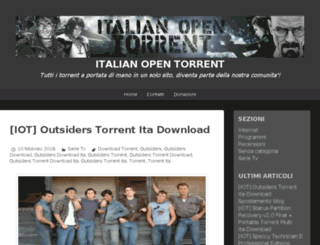 italianopentorrent.wordpress.com screenshot