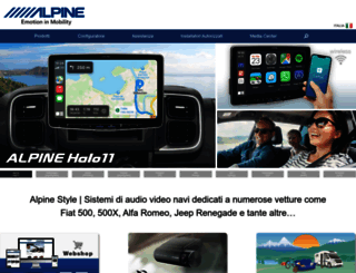 italy.alpine-europe.com screenshot