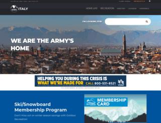 italy.armymwr.com screenshot
