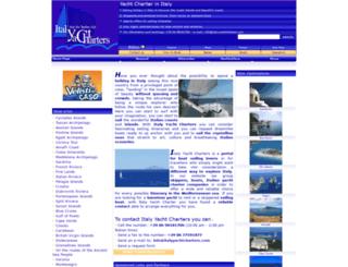 italyyachtcharters.com screenshot