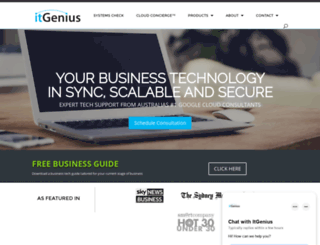 itgenius.com.au screenshot