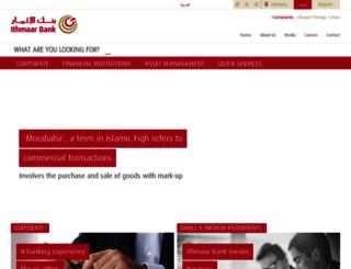 ithmaarbank.com screenshot