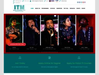 itmuniversity.ac.in screenshot