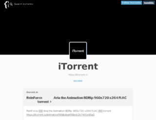 itorrentio.tumblr.com screenshot