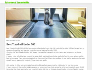 itsabouttreadmills.com screenshot
