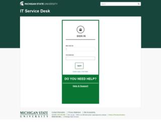 itservicedesk.msu.edu screenshot