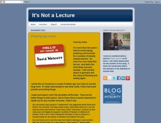 itsnotalecture.blogspot.com screenshot