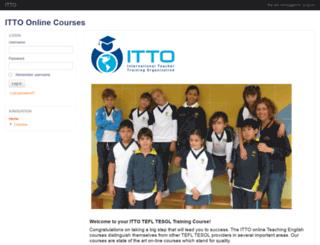 itto-onlinecourses.com screenshot