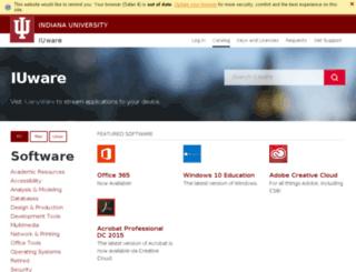 iuware.indiana.edu screenshot