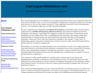 ivyleagueadmission.com screenshot
