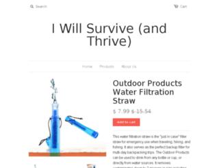 iwillsurvive.myshopify.com screenshot