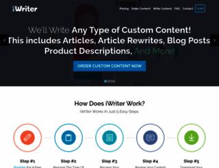 iwriter.com screenshot