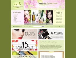 izzysbeautyshoppe.com screenshot