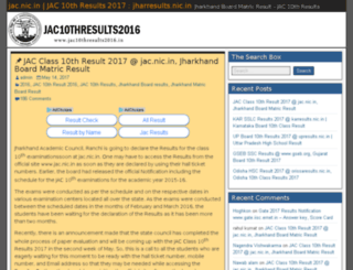 jac10thresults2016.in screenshot