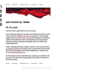 jack.minardi.org screenshot