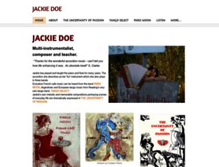 jackiedoe.co.uk screenshot