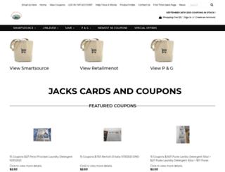jackscardsandcoupons.3dcartstores.com screenshot