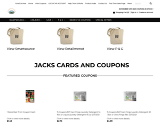 jackscardsandcoupons.com screenshot