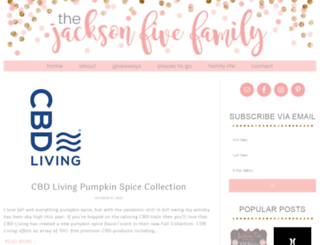 jacksonfivefamilyblog.com screenshot