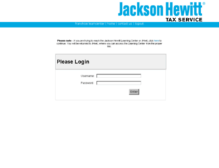 jacksonhewitt.learn.com screenshot