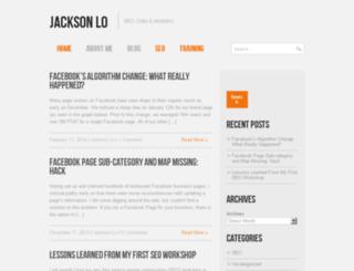 jacksonlo.com screenshot