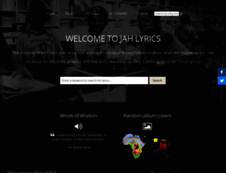 jah-lyrics.com screenshot