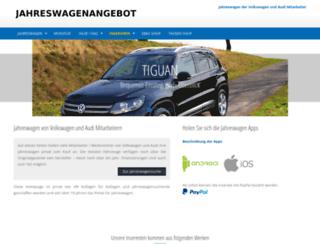 jahreswagenangebot.de screenshot