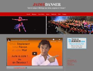 jaimedanser.fr screenshot