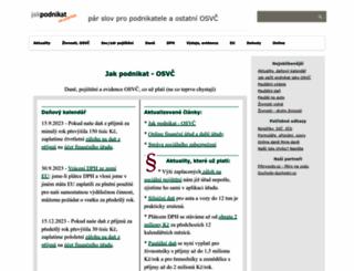 jakpodnikat.cz screenshot