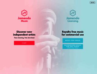 jamendo.com screenshot
