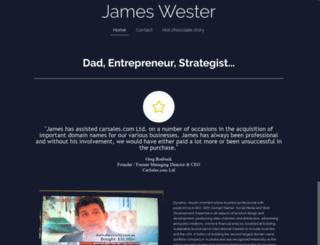 jameswester.com screenshot