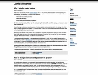 jamiemonserrate.wordpress.com screenshot