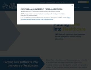 jandbmedical.com screenshot