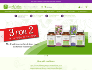 jandevrieshealth.co.uk screenshot