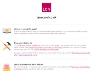 janecarol.co.uk screenshot