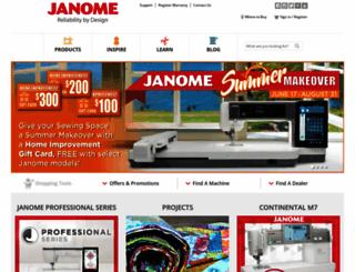 janome.com screenshot
