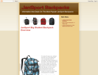 jansportbackpackreviews.blogspot.com screenshot
